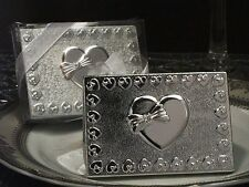 Silver Finish Multi Heart Design Compact Mirror Wedding Bridal Shower Favors