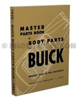 Buick Body Parts Book 1951 1950 1949 1948 1947 1946 1942 Illustrated Catalog