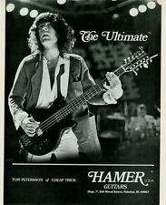 """1979 Tom Peterson Of """"Cheap Trick"""" In A Hamer Guitars Ad"""