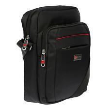 Bag Street Herrentasche Flugbegleiter Schultertasche Umhängetasche Tasche Black