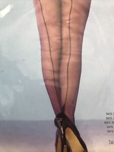 Sexy Black Cuban Heel with seam Stockings  One size.  Burlesque