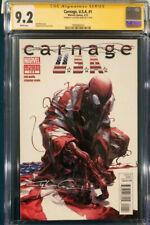 Clayton Crain signed CARNAGE USA #1 CGC Spider-Man CBCS Venom Avengers Endgame