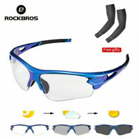 ROCKBROS Cycling Glasses Photochromatic Lens Outdoor Sports Sunglasses Eyewear