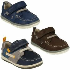 Leather Athletic Shoes for Boys with Hook & Loop Fasteners