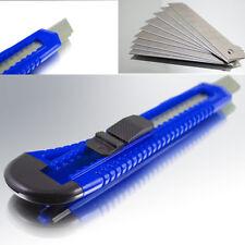 Profi Cuttermesser Blau 18mm Kutter Teppich Messer Ersatz Abbrechklingen Set