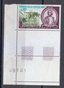 France 1969 MNH Sc 1255 Mi 1679 Napoleon Banaparte as Young Officer ** number