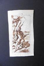 ITALIAN-FLORENTINE SCHOOL 16thC - MAN IN LANDSCAPE ATTR. BOSCOLI - INK DRAWING