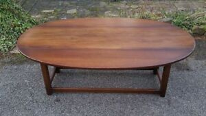 A Beautiful High Quality Solid Wood Oval Folding/Drop Leaf Stylish Coffee Table