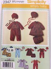 Simplicity 2347 Sewing Pattern Babies' Romper Dress Panties Hats Uncut All Sizes