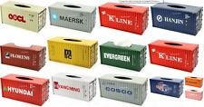 CONTAINER MSC 1pcs tissue box tinplate blechmodell voiture tole handmade