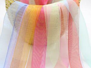 "10 Meter 50mm(2"") Sheer Organza Ribbon Gift Bow Wedding Craft 10 Color"