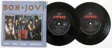 "BON JOVI LIVE! ON TOUR - WANTED DEAD OR ALIVE - GATEFOLD - 2 X 7""33 RECORDS 1984"