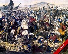 BATTLE OF KOSOVO PAINTING SERBIAN OTTOMAN EUROPEAN WAR ART REAL CANVASPRINT