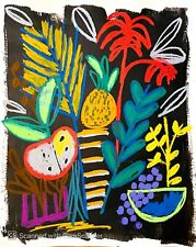 CONTEMPORARY ABSTRACT PAINTING FRUIT DESIGN ART ORIGINAL NEW DIRECT FROM ARTIST