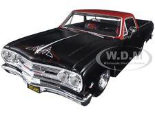 """1965 CHEVROLET EL CAMINO MATT BLACK """"OUTLAWS"""" 1/25 DIECAST MODEL BY MAISTO 32517"""