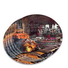New York Whiskey Guitar Novelty Coaster Set