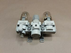 SMC AR30-N03-Z-B REGULATOR W/ AF30-N03-Z-A & AL30-N03-3Z-A #1105F53
