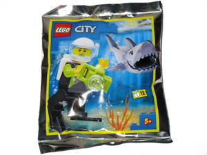 Lego City: Scuba Diver and Shark  - Foil Pack #2 - 952019 - New & Sealed
