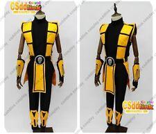 Mortal Kombat 3 Scorpion Cosplay Costume yellow MM02