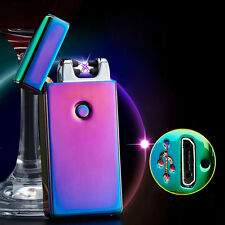 Electric Rechargeable Dual Arc Flameless USB Cigarette Windproof Lighter Useful