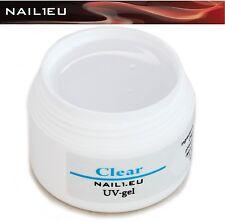 """PROFESIONAL composición de Gel UV TRANSPARENTE,Muy Grueso"""" nail1.eu CLEAR """" 7ml"""