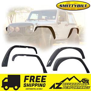 Smittybilt XRC Front & Rear Flat Fender Flares for 07-18 Jeep Wrangler JK 76837