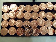 100 Ounces of Copper Rounds 1 oz Each between 20 to 30 different designs Lot #2