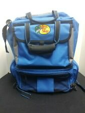 Bass Pro Shops Fishing Tackle BackPack blue tool box bag converts to 2 bags