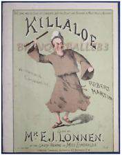 IRISH MARCH PIANO PARTITION XIX KILLALOE ROBERT MARTIN LONNEN ESMERALDA LONDRES