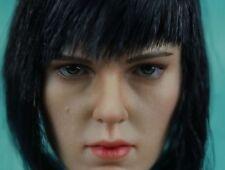 FIGURE CLUB 1/6 Kusanagi Motoko tì Scarlett Johansson Head Carved Girl Head Toy