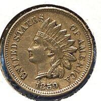 1859 1C Indian Cent (58259)