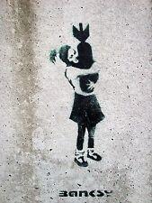 Banksy - Bomb Hugger. Ed. 300pc Printed Signature Number to pencil - AU