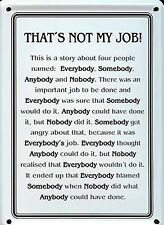 That's Not My Job mini metal sign / postcard 110mm x 80mm (hi)