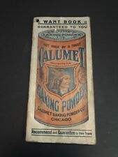 CALUMET Baking Powder Advertising Grocery Want List Book (used as journal)AA2