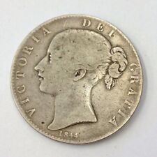 Antique Victorian 1844 Silver Crown Coin