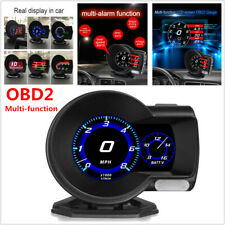 Car OBD2 Multifunction Gauge Head-Up Digital Display Boost Data Scan Fuel Speed