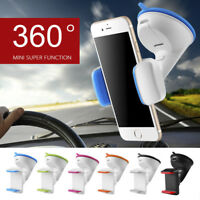 360°Rotating Universal Car Holder Windshield Mount Bracket Stand for Cell Phone