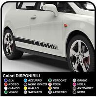 2x STRISCE LATERALI ADESIVI strisce griglia decorazione strisce auto universali