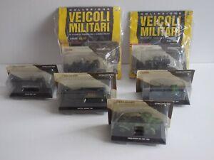 lotto 6 modellini VEICOLI MILITARI scala 1/43 metallo, die cast De Agostini