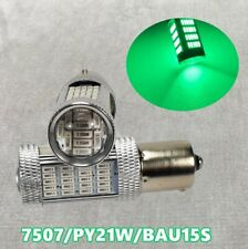 Front Turn Signal Light BAU15S 7507 PY21W 92 High Power LED Green Bulb W1 JAE
