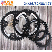 US 10Speed Double/Triple Chainring MTB Bike 24/26/32/38/42T 104/64BCDmm Crankset