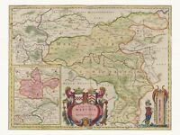Alte Dortmund Deutschland Landkarte Blaeu ca. 1655 Papier Leinwand