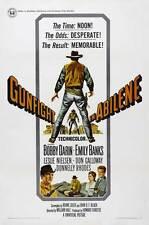 GUNFIGHT IN ABILENE Movie POSTER 27x40 B Bobby Darin Emily Banks Leslie Nielsen