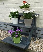 Blumentreppe Pflanztreppe Blumenpodest imprägniert H=56 cm Anthrazit