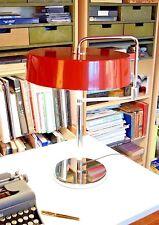 PIERRE CHAREAU RED TABLE LAMP BAUHAUS MID-CENTURY