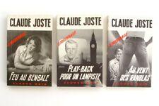 Lot de 3 poches de CLAUDE JOSTE - Espionnage - Feu au Bengale  - Fleuve Noir