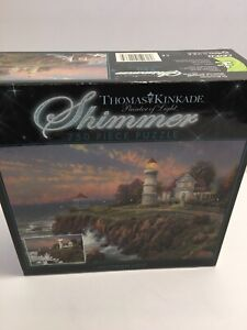 """Thomas Kincaid painter of light shimmer. 750 piece jigsaw puzzle 24 x 18"""" new"""