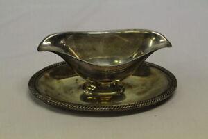 Vintage Castleton International Silver Company Gravy Dish Boat 4813