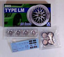 "Aoshima 1/24 BBS Type LM 20"" Wheel & Tire Set For Plastic Models 5275 (25)"