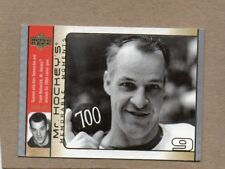 gordie howe 2003/04 ud memorable moments card detroit red wings mr hockey gh12